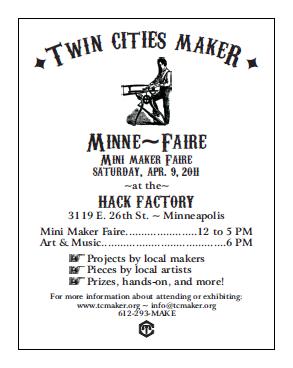Thumbnail for TCMaker Minne-Fair 2011 flyer, full sheet