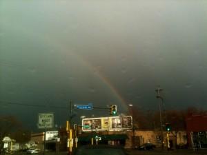 Rainbow over Franklin Ave