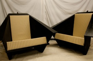My original, very large version of the origami chair.