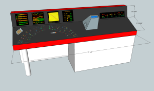 Sketchup model of the proposed control panel