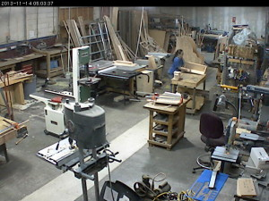 The wood shop at 5am